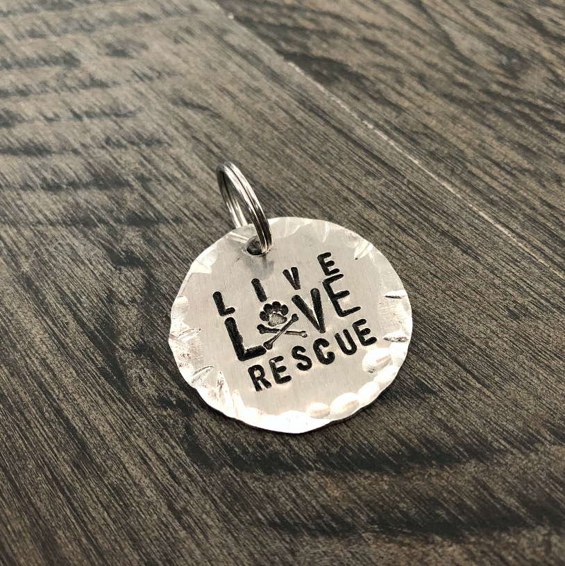 Live Love Rescue Keychain