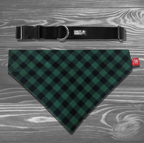 Wintergreen Bandana Collar