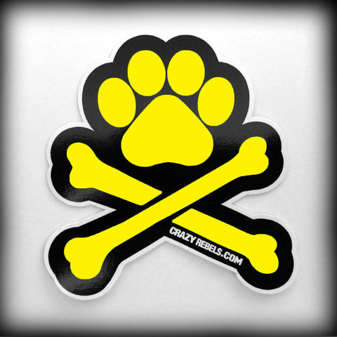 Yellow Paw Sticker