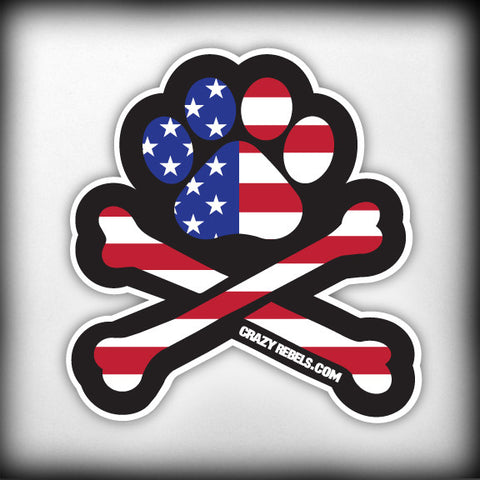 Patriotic Paw Sticker