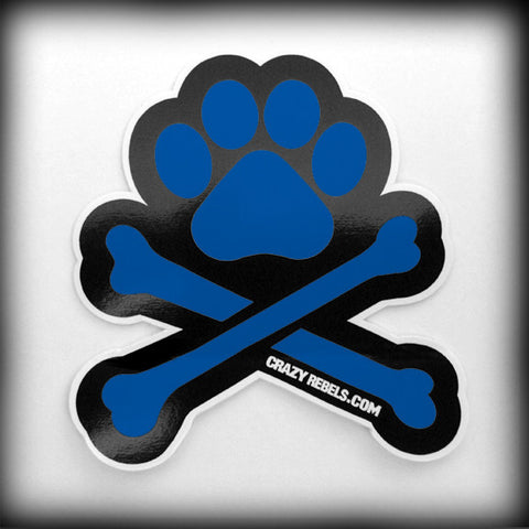 Blue Paw Sticker