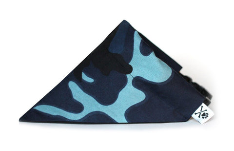 Deep Sea Camo Bandana Collar