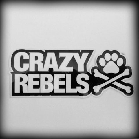 Crazy Rebels Logo Sticker