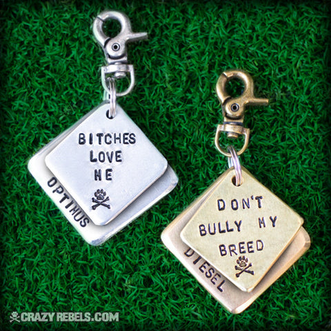 Double Trouble Dog Tag
