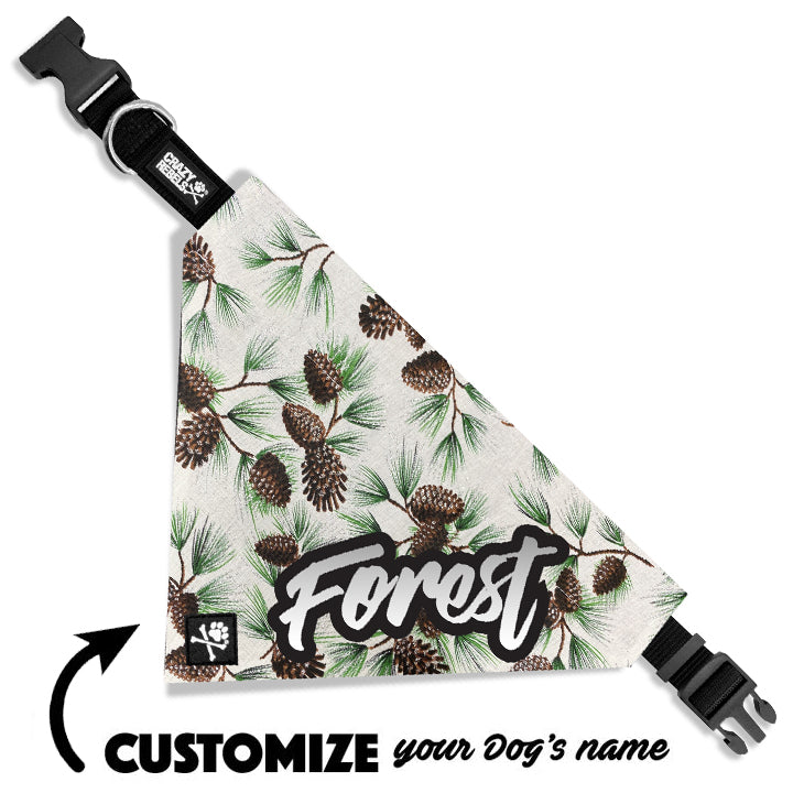 Evergreen Bandana Collar (Custom Name)