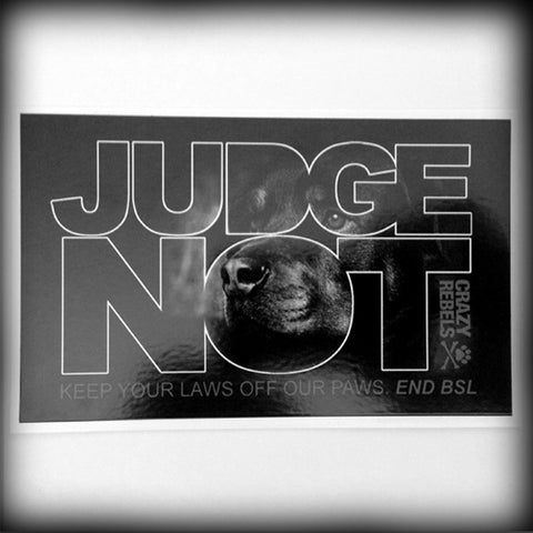 Judge Not Stickers