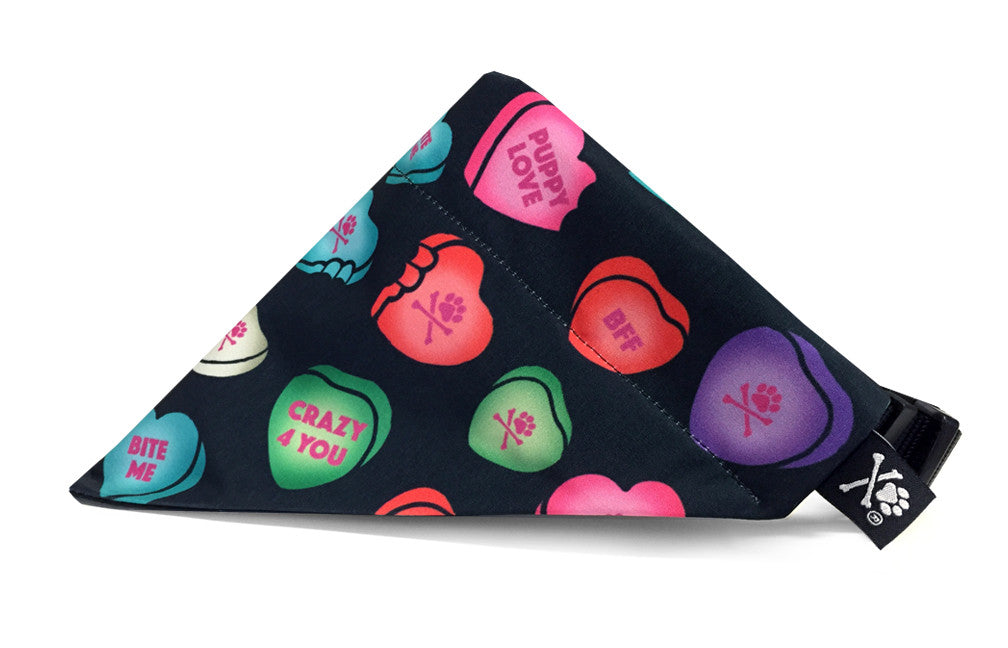 Love Bites Bandana (Nylon Collar Not Included)