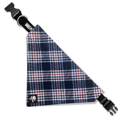 Patriotic Plaid Bandana Collar