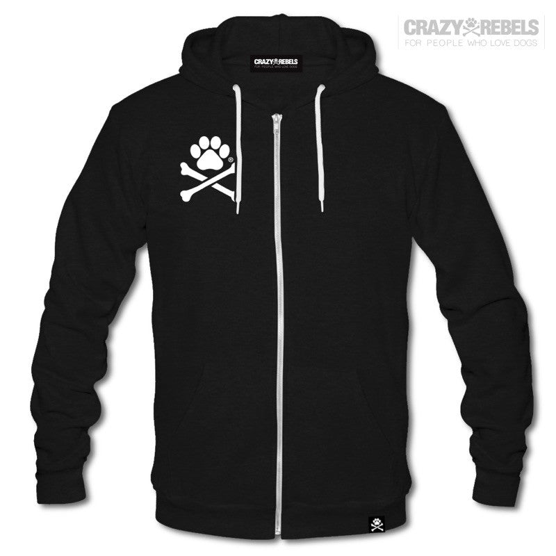 Paw Print Unisex Zip-up