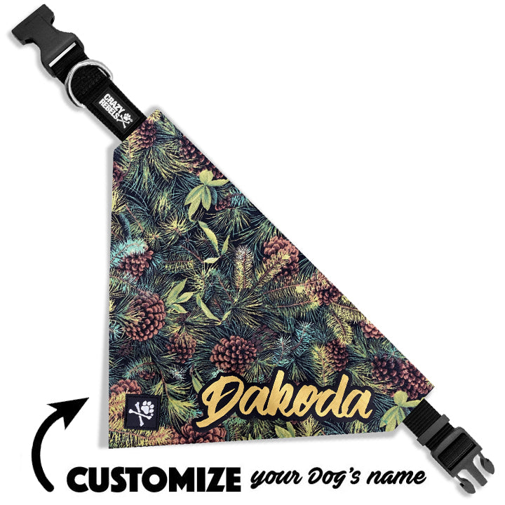 Pine Bandana Collar (Custom Name)