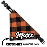 Pumpkin Pie Plaid Bandana Collar (custom name)