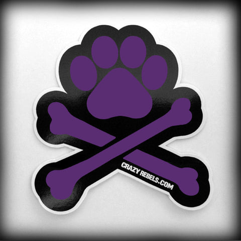 Purple Paw Sticker