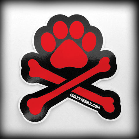 Red Paw Sticker