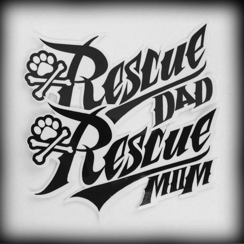 Rescue Mom/Dad Sticker