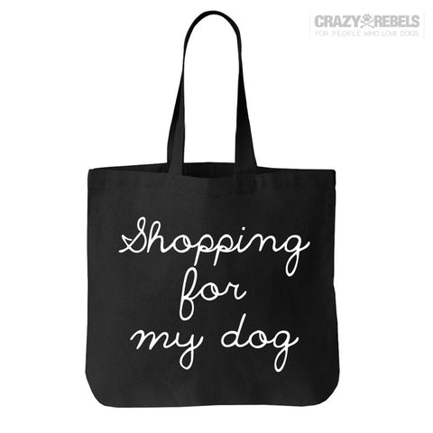 Shopping For My Dog Tote Bag