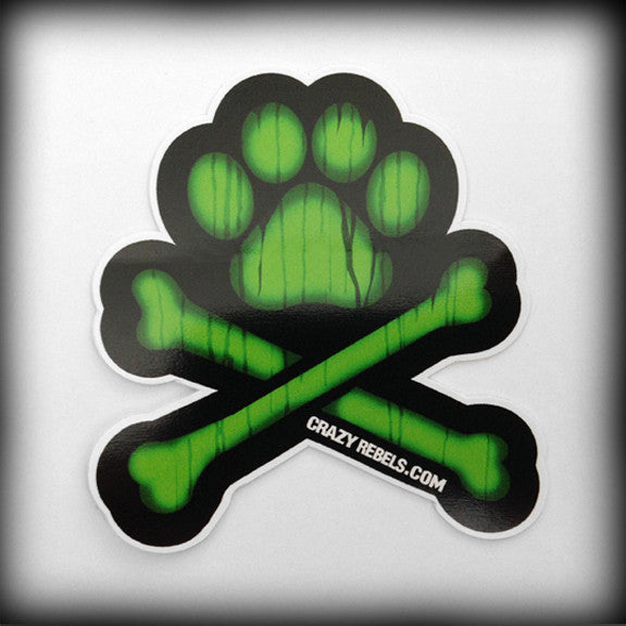 Slime Green Paw Sticker