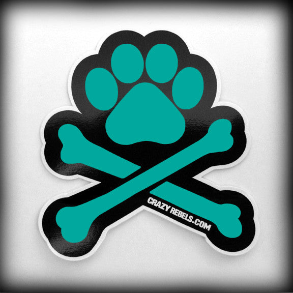 Totally Teal Paw Sticker