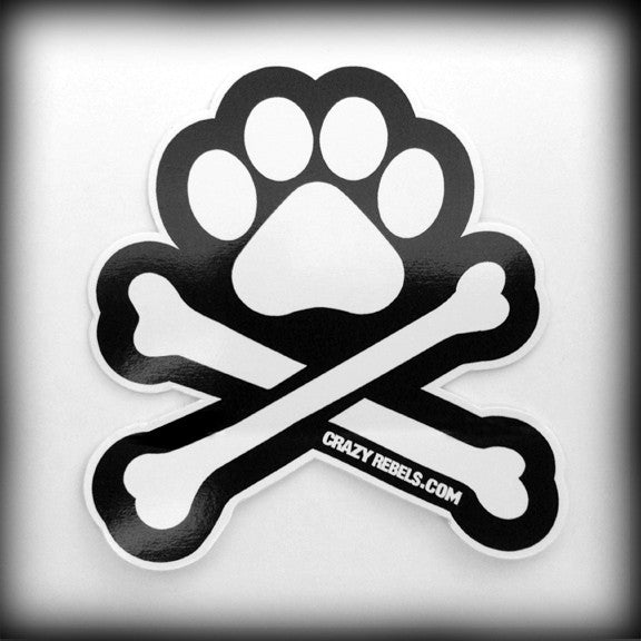 Black & White Paw Sticker