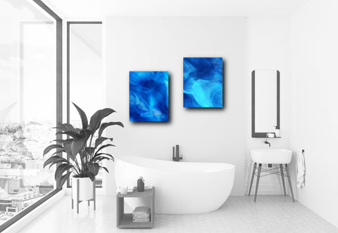 Print Set of 2 Blue Art Prints (PPS-003)