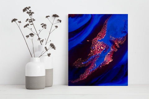 Ultramarine Blue Abstract Print for the Home - Made in Canada (P - 006)