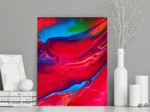 Modern Red, Blue & Magenta Abstract Wall Decor (P - 015)