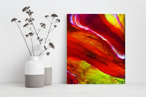 Modern Red Abstract, Contemporary Abstract Art print for Home and Wall Decor (P - 017)