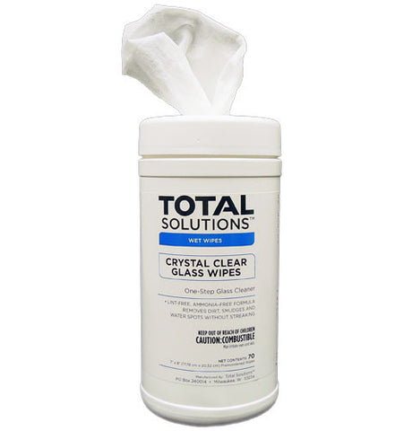 Crystal Clear Glass Wipes