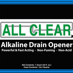 Drain Cleaner, ALL CLEAR - Alkaline Based Strong And Safe