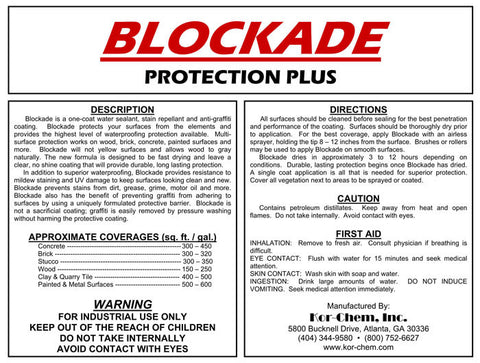 Blockade - anti-graffiti and multi-surface protection