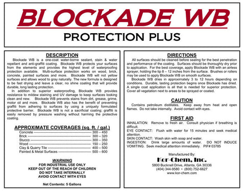 Blockade WB - Surface Protection From Kem-Chor