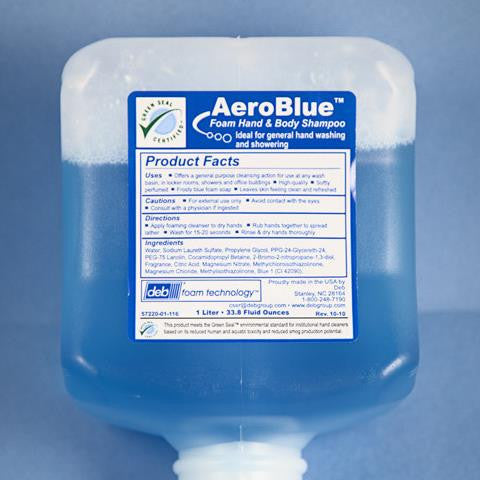 Liquid Hand Soap - AERO BLUE, A Foaming Hand Soap