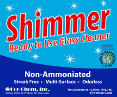Shimmer Non Ammoniated RTU Glass Cleaner