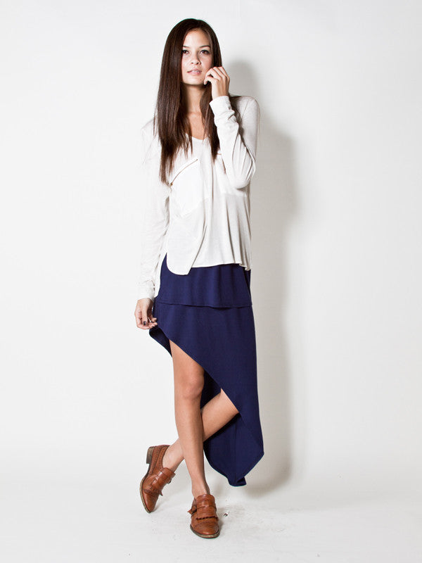 LNA Double Slant Skirt