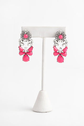 'Gravity' Earrings in Pop Pink