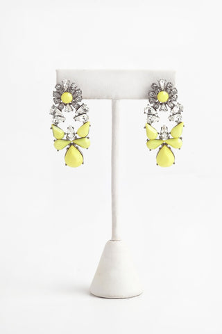 'Gravity' Earrings in Neon Green