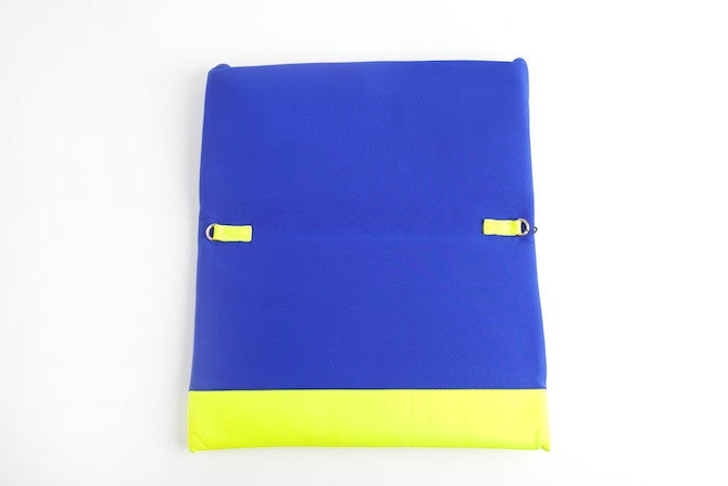 Color Block Large Clutch Blue/Yellow