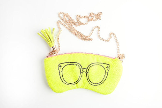 Eye Candy Purse in Neon Yellow