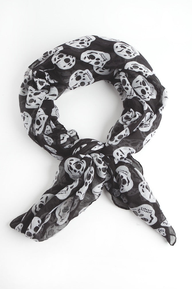 Scarf-Blow Out Skull Scarf
