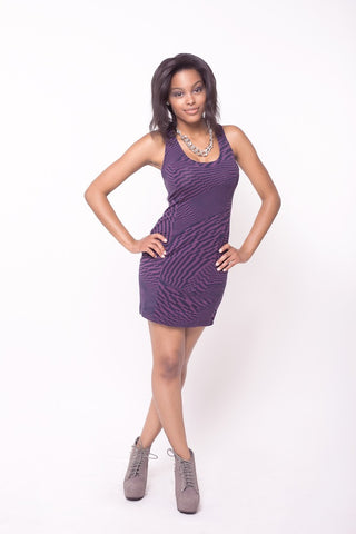 Plastic Island Purple Haze Minidress