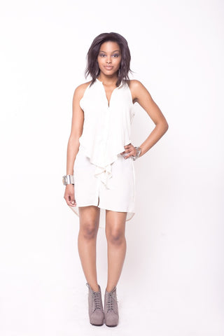 Plastic Island Cielo Button Down Dress