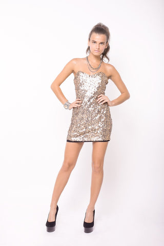 Naven Sequin Sweetheart Dress *Sample