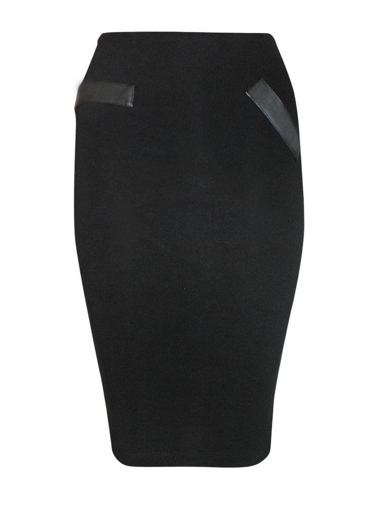 LNA Black Sweater Pencil Skirt