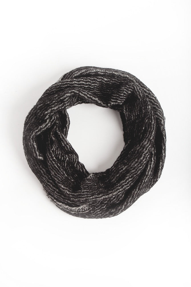 Black/Gray Ring Scarf