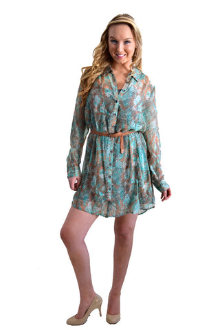 Kensie Printed Shirt Dress