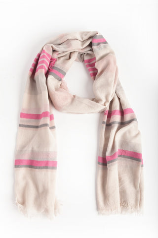 Pink/Gray Scarf