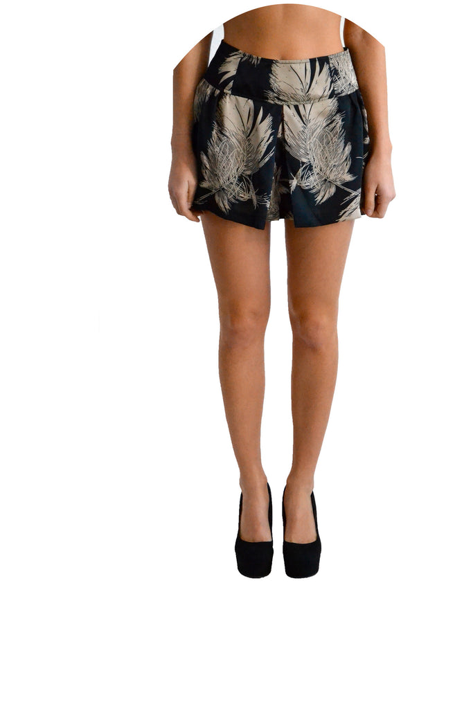Plastic Island Arizona Feather Print Shorts