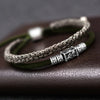 925 Silver Braided Bracelet (Double Layer) - Lucky Charms