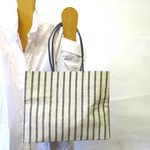 Pattern Wax Linen - Marche - Navy Stripe
