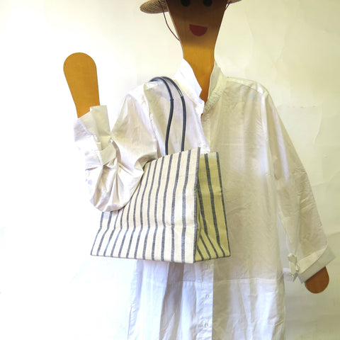 Pattern Wax Linen - Madi - Navy Stripe
