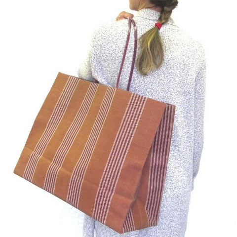 Brave Brown Bag weekender sale maximus whiskey stripe